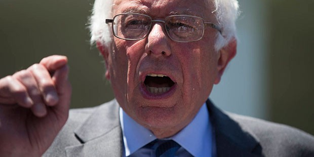 Democratic presidential candidate Sen. Bernie Sanders, I-Vt. speaks to reporters outside the White House in Washington, Thursday, June 9, 2016, following a meeting with President Barack Obama. (AP Photo/Evan Vucci)
