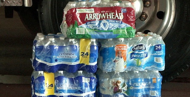 The Phoenix Fire Department is asking citizens to donate water this summer for the homeless population. (Photo by Eddie Keller/Cronkite News)