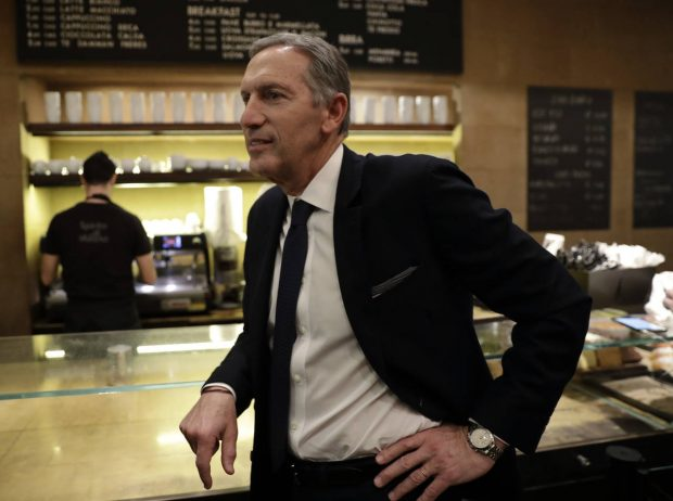 In this image taken on Monday, Feb. 27, 2017, Starbucks CEO Howard Schultz stands at the Princi bakery, in Milan, Italy. Longtime CEO Howard Schultz's vision for Starbucks was largely inspired by the Milan coffee bars he experienced on his first trip to the northern Italian city in 1983. Schultz will continue on with the company to open ''the quintessential Roastery'' in Milan by the end of 2018. (AP Photo/Luca Bruno)