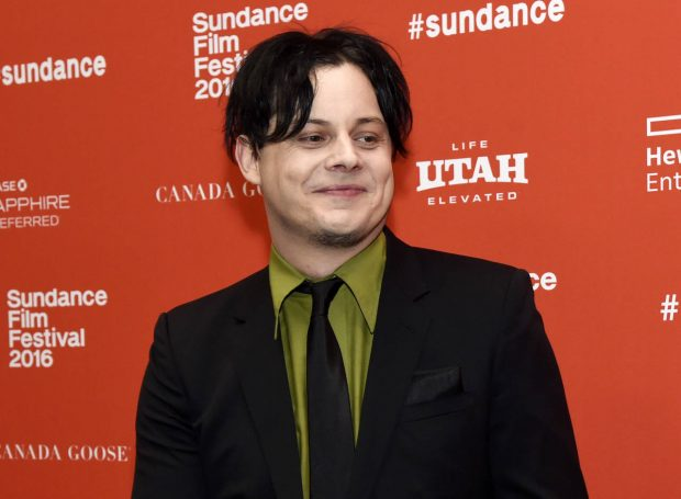 """FILE - This Jan. 28, 2016 file photo shows musician Jack White, an executive producer of """"American Epic,"""" at the premiere of the four-part PBS music documentary series at the 2016 Sundance Film Festival in Park City, Utah. White returns to his hometown of Detroit this weekend for the opening of a vinyl record pressing plant at his Third Man Records store, which he opened two years ago in a neighborhood that has been undergoing a revitalization since the city emerged from bankruptcy. (Photo by Chris Pizzello/Invision/AP, File)"""