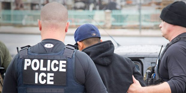 In this Tuesday, Feb. 7, 2017, photo released by U.S. Immigration and Customs Enforcement shows foreign nationals being arrested this week during a targeted enforcement operation conducted by U.S. Immigration and Customs Enforcement (ICE) aimed at immigration fugitives, re-entrants and at-large criminal aliens in Los Angeles. (Charles Reed/U.S. Immigration and Customs Enforcement via AP)