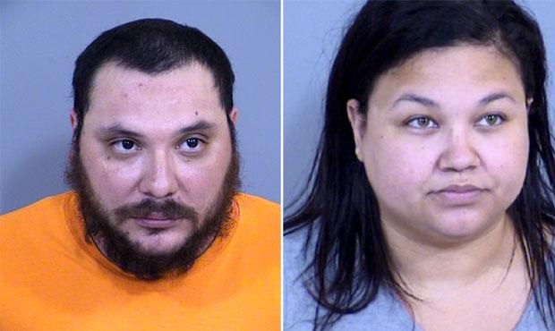 Adrian Favela and Barringtina Mathis (Maricopa County Sheriff's Office photo)...