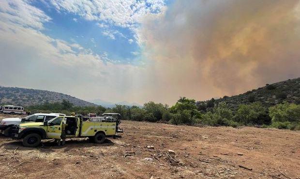 Mescal Fire in Arizona on June 6, 2021. (InciWeb Photo)...