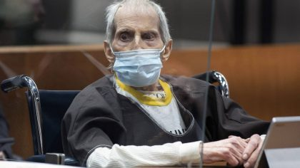 New York real estate scion Robert Durst, 78, sits in the courtroom as he is sentenced to life in pr...