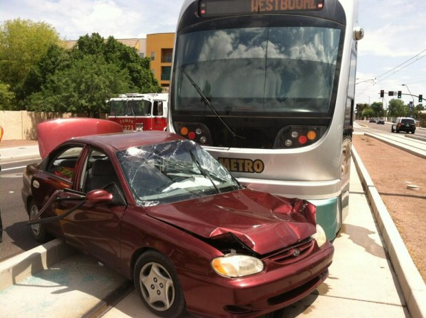 2 in critical condition after light rail collision