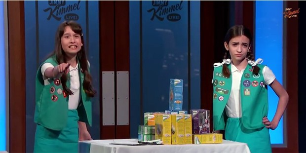 Jimmy Kimmel gets harassed by group of Girl Scouts
