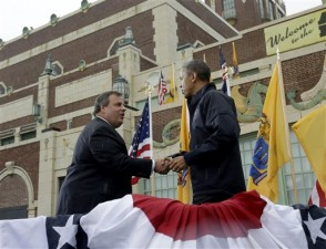 President Obama tours the Jersey Shore with Gov. Christie